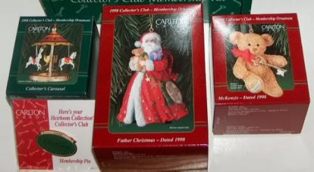 Carlton Christmas Heirloom Collection 1998